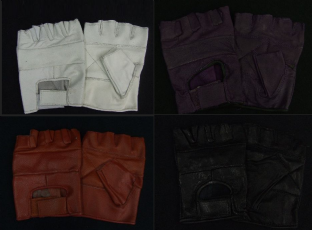 Leather Fingerless Gloves (Choose From 4 Colours)